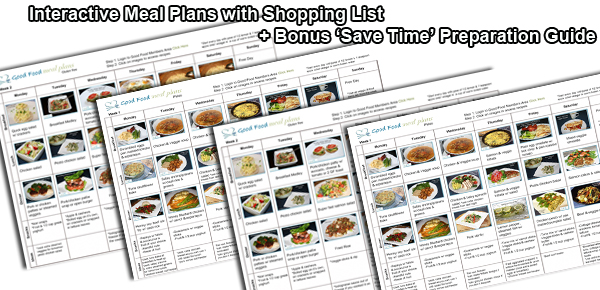 The recipes are easy to make and the plans are easy to follow