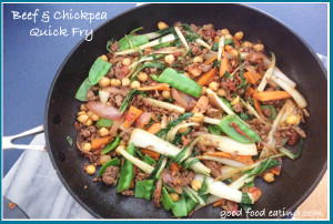 beef & chickpea quick fry