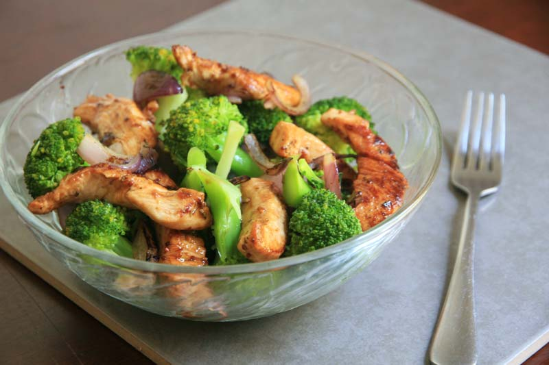 honey mustrad chicken broccoli salad2