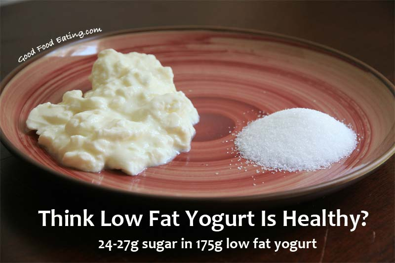 think low fat yogurt is healthy