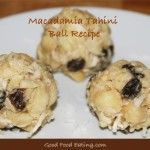 Macadamia Tahini Balls - calcium and vitamin B enriched treat!