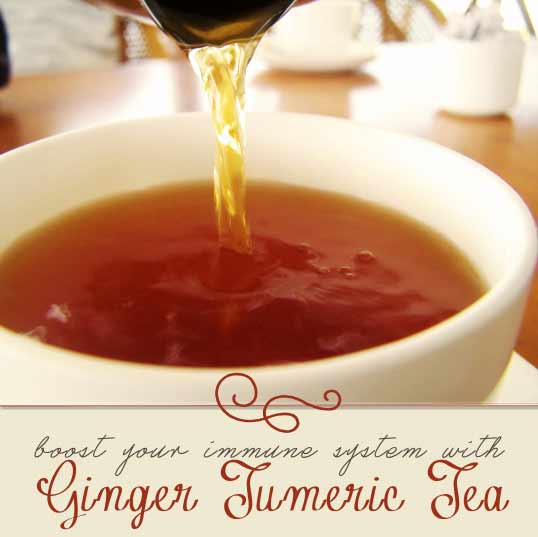 Ginger turmeric tea - Homegrown & Healthy