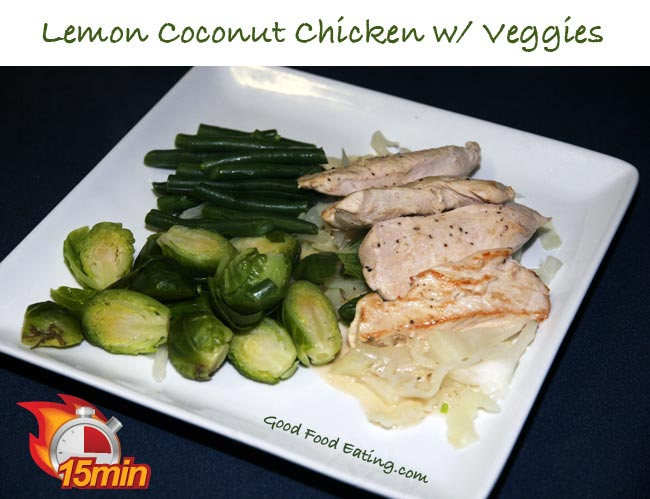 Lemon Coconut Chicken with Veggies