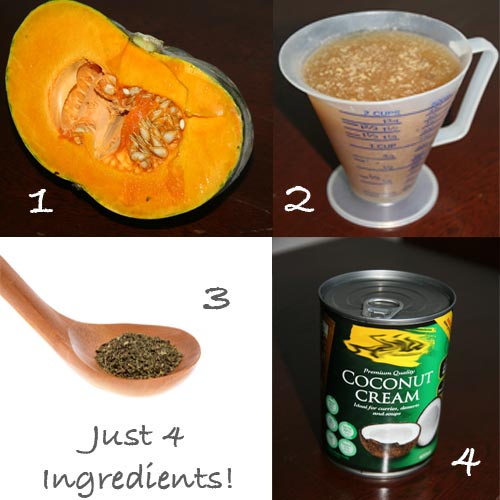 4 Ingredient Pumpkin Soup