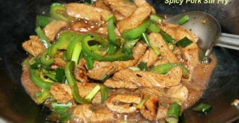 Chinese-style Spicy Pork Stir Fry