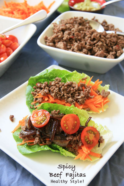 Spicy Beef Fajitas: Healthy Style!