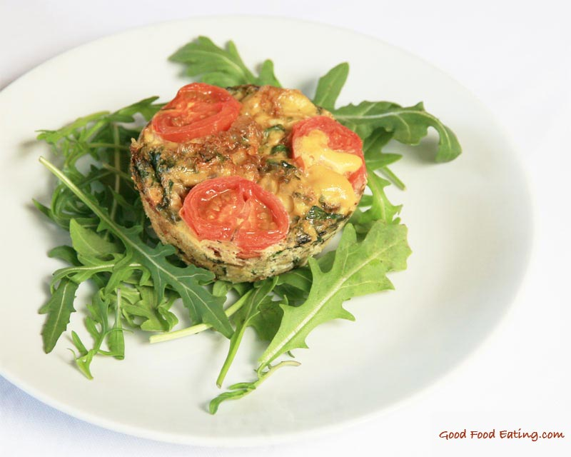 kale and tomato egg muffins