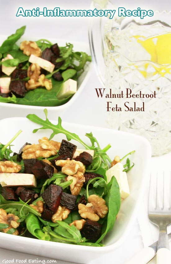 Anti-Inflammatory Meal: Walnut Beetroot Feta Salad