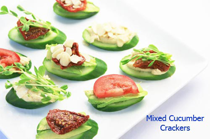 Healthy Snack Recipe: Mixed Cucumber Crackers