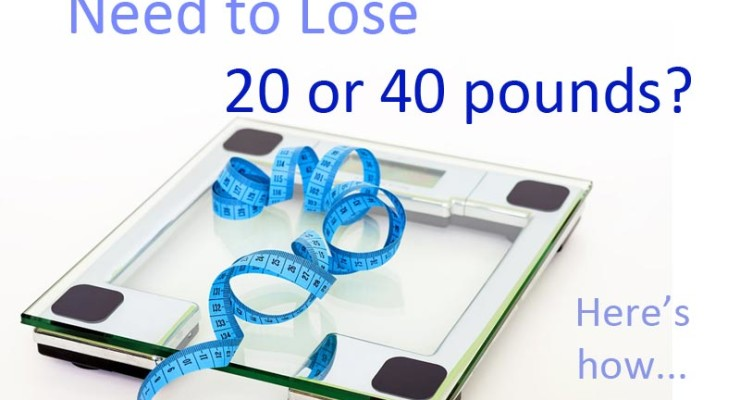 Need to lose 20 or 40 pounds?