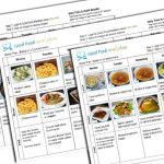 Weekly Gluten Free Meal Plans