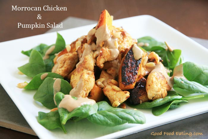 Morrocan Chicken and Pumpkin Salad